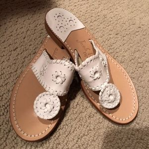 Jack Rogers Classic White Sandals